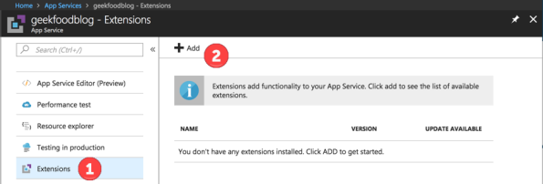 Azure Extension 3