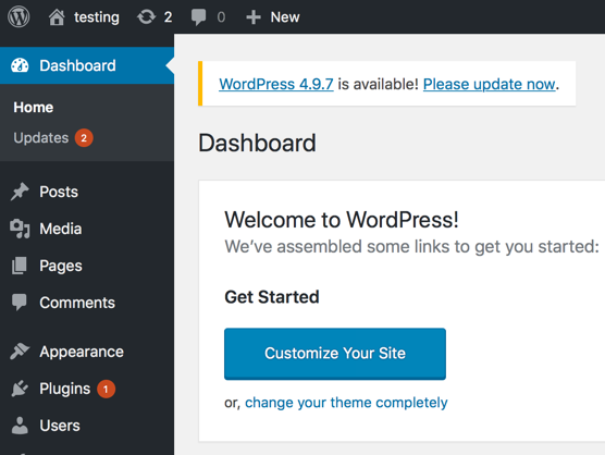 Azure New WordPress