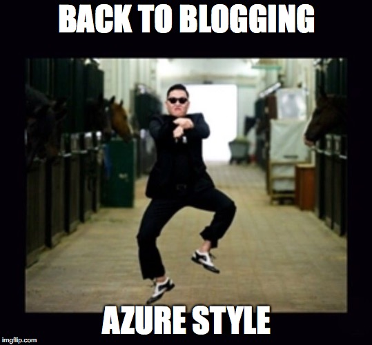 Blogging Azure Style